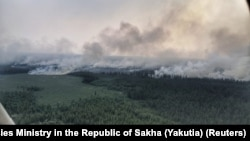 Yakutiya ərazisində meşə yanğını