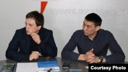 Тимур Шайхутдинов и Урмат Казакбаев - активисты Гражданского союза «За реформы и результат».