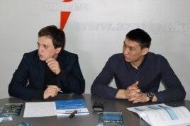 Активисты в офисе «Азаттыка»