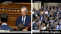29 серпня 2019 року в залі під куполом Ради Медведчук офіційно присягав на вірність Україні