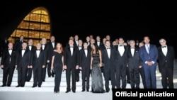 Президент Азербайджана Ильхам Алиев и его министры