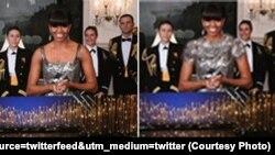 Новое платье Мишель Обамы для иранского телевидения