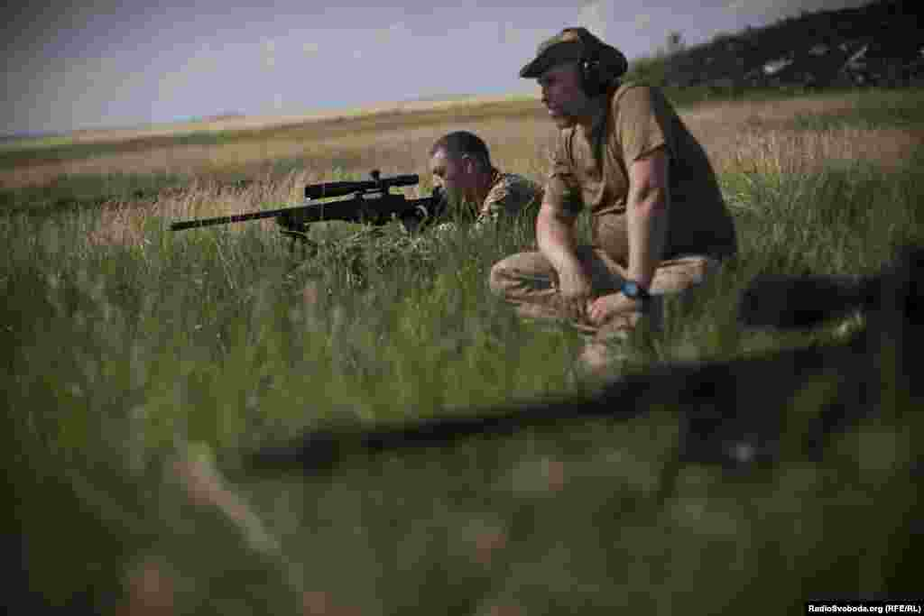 Snipers take part in target practice.