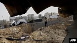 یکی از تونلهای مورد حمله اسرائیل در روزهای گذشته در مرز رفح