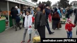 Текинский рынок в Ашхабаде
