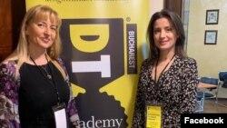 Adela Cristea, fondatoarea Ascent Group, și Lia Bejenaru