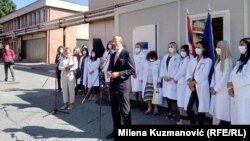 Serbia -- EU ambassador in Serbia Sem Fabrizi in Valjevo, 24 September, 2020