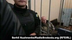 Засідання суду у справі щодо лідера «Добровольчого руху ОУН» Миколи Коханівського, Київ, 24 жовтня 2017 року