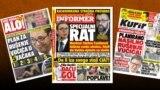 Naslovne strane tabloida u Srbiji