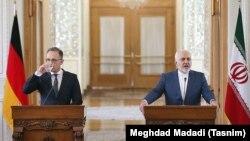 محمدجواد ظریف، وزیر خارجه ایران (سمت راست) با همتای آلمانیاش، هایکو ماس