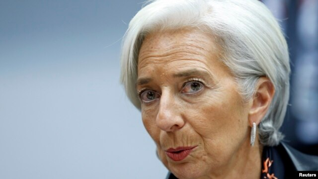 IMF Managing Director Christine Lagarde says Ukraine has agreed to front-load reforms, including energy-tariff increases, bank restructuring, governance reform of state-owned enterprises, and an anticorruption agenda.