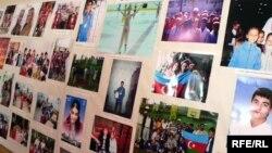 Фотостенд о радоте азербайджанской диаспоры в Казани, 18 июня 2008