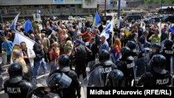 Protest građana u Sarajevu 9. maja
