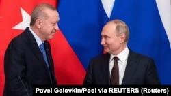 Ռուսաստանի և Թուրքիայի նախագահներ Վլադիմիր Պուտինը և Ռեջեփ Թայիփ Էրդողանը, արխիվ