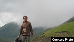 """Tomas Polacek, a reporter for the Czech newspaper """"Mlada Fronta Dnes,"""" in the Daghestani mountains in early August."""