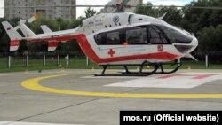 Медицински хеликоптер. Илустрација.