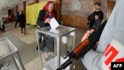 Голосування на «референдумі» в Донецьку, 11 травня 2014 року