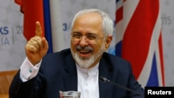 "Iranian Foreign Minister Mohammad Javad Zarif, shown here after news of the deal was revealed, said it is ""not perfect for anybody but it is what we could accomplish."" He called it an ""important achivement for all of us."""