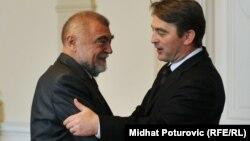 Stjepan Mesić i Željko Komšić u vrijeme kada je Komšić bio član Predsjedništva BiH 2011. godine