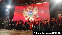 Karnevalski doček za 'Ajkule' u Podgorici