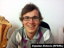 Andraž Šiler, student iz Slovenije