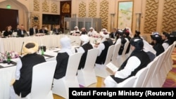 Переговоры делегаций США и афганских талибов в Катаре. Архивное фото