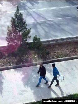 Aşgabadyň jemagat işgärleri öldürlen it-pişikleri polietilen haltalara ýygnaýarlar, fewral, 2019
