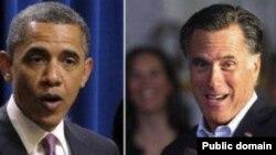 میت رامنی (راست) نامزد جمهوریخواهان و باراک اوباما، نامزد دمکرات ها در انتخابات ریاست جمهوری آمریکا.