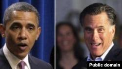 میت رامنی (راست) و باراک اوباما