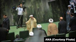 احمد جنتی، دبیر شورای نگهبان در افتتاحیه مجلس دهم