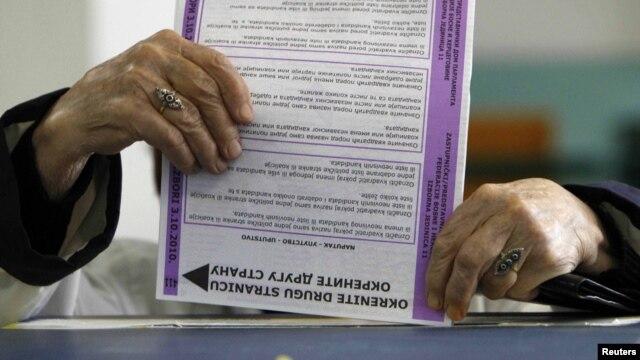 Glasanje na izborima 2010.