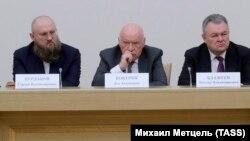 Члены группы по подготовке поправок Сергей Бурлаков, Лео Бокерия и Виктор Блажеев