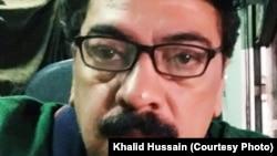 Pakistani cartoonist Khalid Hussain