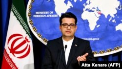 Abbas Mousavi, the spokesman for Iranian Foreign Ministry, gives a press conference in the capital Tehran. FILE PHOTO.