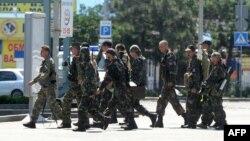 Бойовики на вулицях Донецька, 21 липня 2014 року