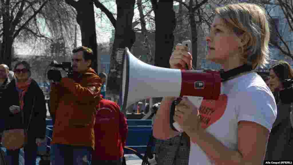 Polina Ceastuhina, una din organizatoarele Marșului de la Chișinău...