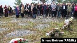 Polaganje cvijeća na Partizansko groblje, Mostar
