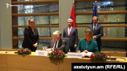 Հայաստան-Եվրամիություն Համապարփակ և ընդլայնված գործընկերության համաձայնագրի ստորագրման արարողությունը, Բրյուսել, 24-ը նոյեմբերի, 2017թ․