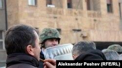 Од протестите на тутунарите пред Собранието
