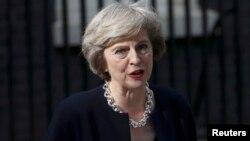 Тереза Мей виступає перед пресою вперше як прем'єр, Лондон, 19 липня 2016 року
