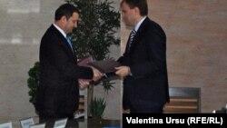 Fostul premier Vlad Filat și Evgheni Șevciuk la negocieri la Tiraspol
