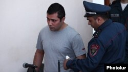Armenia - Opposition activist Gevorg Safarian goes on trial in Yerevan, 20May2016.