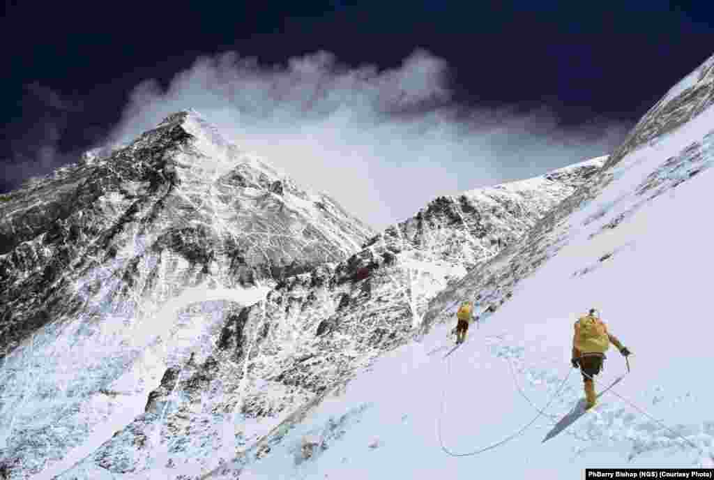 "The first American team to summit Mount Everest in 1963 included ""National Geographic's"" Barry Bishop."