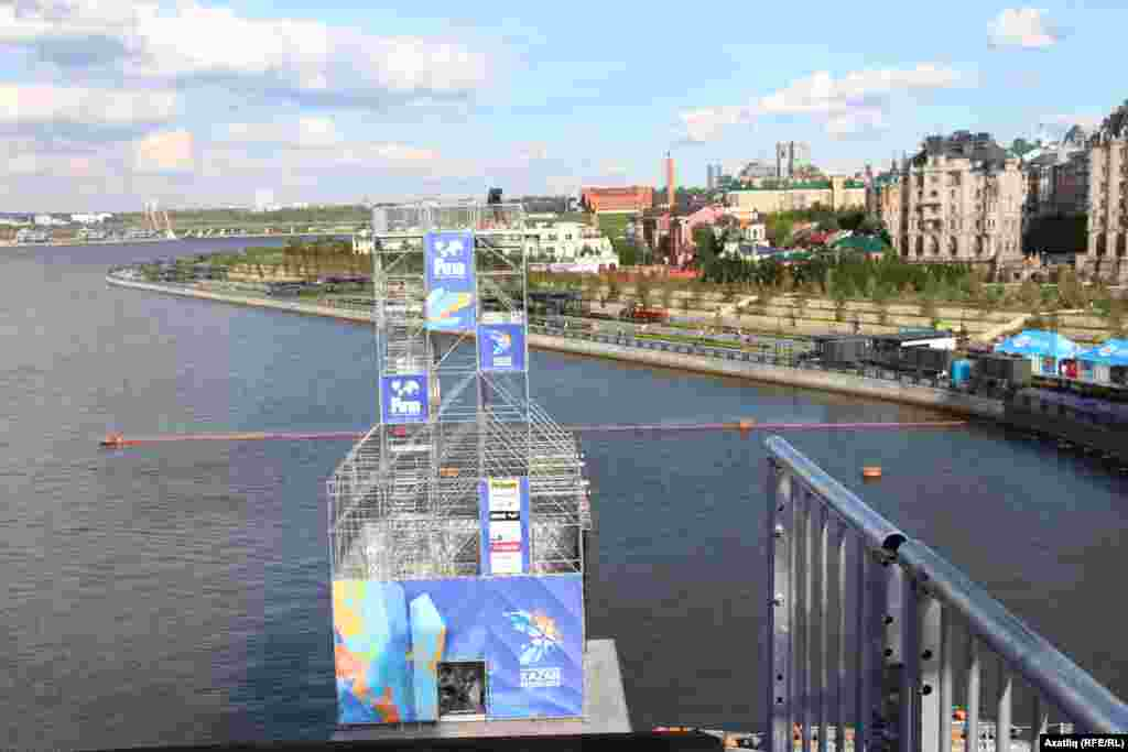 20 метр биеклектәге ярыш каланчасыннан Казан күренеше