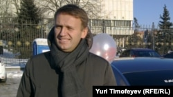 Российский блогер Алексей Навальный. Москва, 29 января 2012 года.