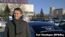 """Алексей Навальный на автопробеге """"Белое кольцо"""" в Москве"""