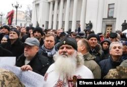 Сторонники Михаила Саакашвили у Верховной Рады Украины