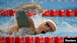 Зульфия Габидуллина на дистанции 100 метров вольным стилем в Рио-де-Жанейро. 8 сентября 2016 года.