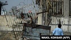 У места взрыва в Кабуле. Иллюстративное фото.