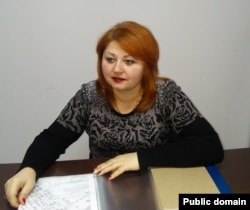 Очільниця «нотаріальної палати» угруповання «ЛНР» Любов Гринчишина. Фото з сайту «ради міністрів» угруповання «ЛНР»